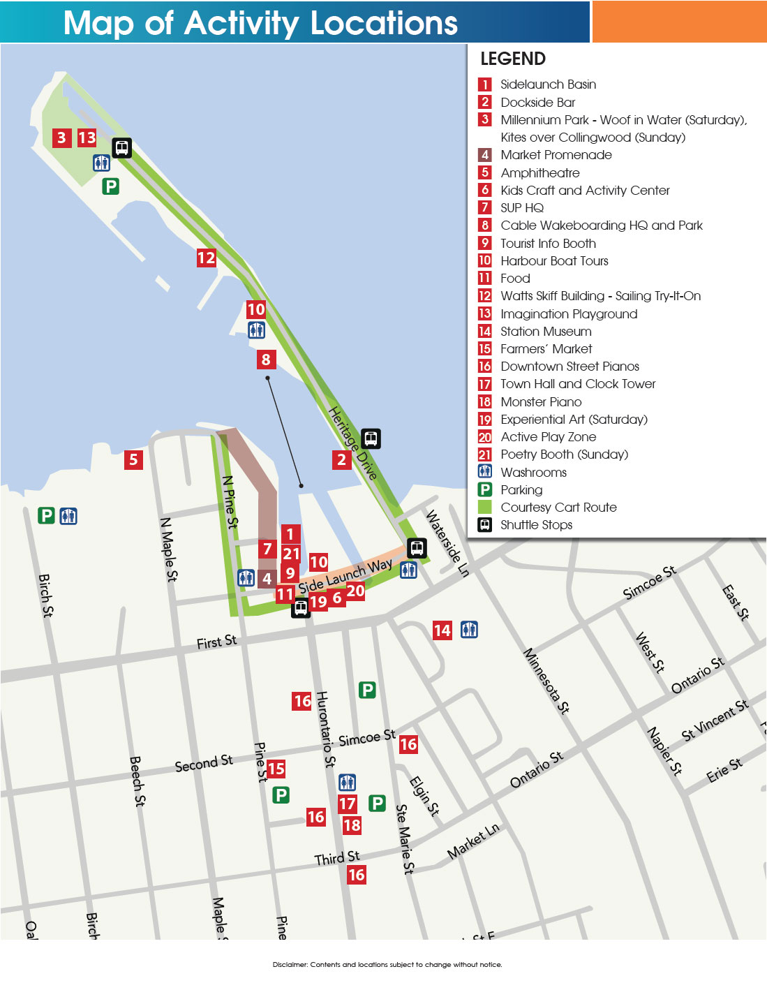 Sidelaunch Days Festival Venues Map